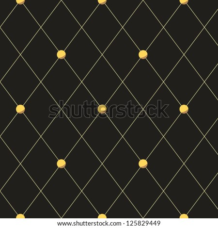 Grey quilted rhombus seamless pattern, vector - stock vector
