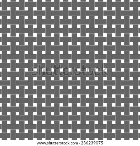 Grey rattan style weave texture pattern - stock vector