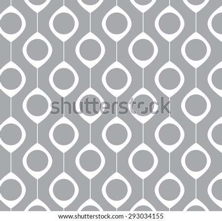 Grey seamless pattern with decorative shapes