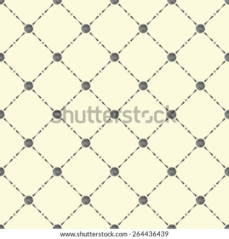 Grey seamless pattern with earth symbol on beige, 10eps. - stock vector