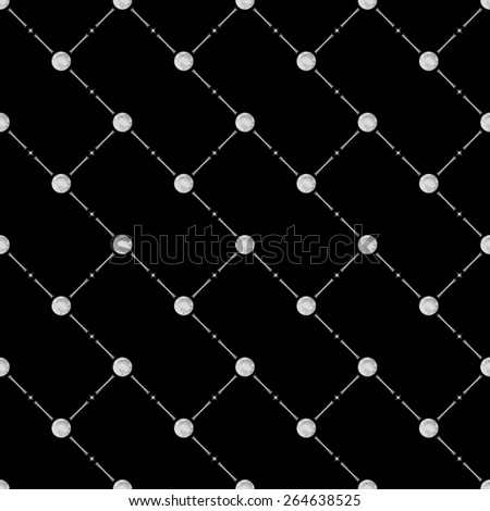 Grey seamless pattern with earth symbol on black, 10eps. - stock vector