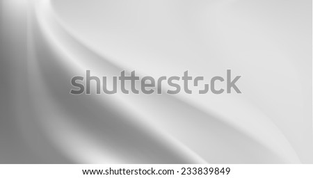Grey silk background with some soft folds and highlights horizontal - stock vector