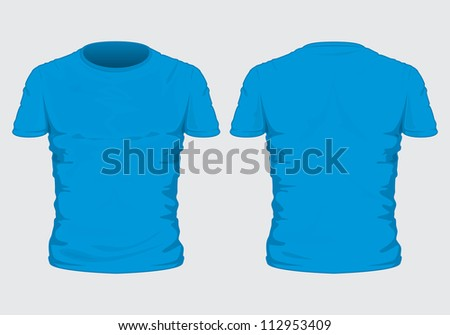 Blue Tshirt Template Photorealistic Mesh Design Stock Vector ...