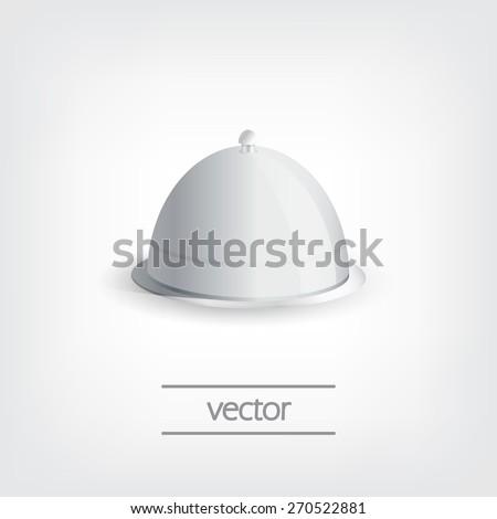 Grey tray, vector graphic design, stylish concept eps10 - stock vector