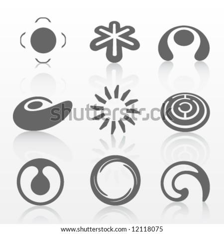 Grey vector logos - stock vector