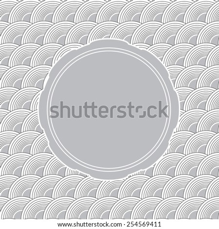Grey wave background with copyspace for your text or invite - stock vector