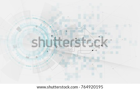 grey & white color electric digital abstract new technology background. Vector graphic design for creative banner, poster, template website,book