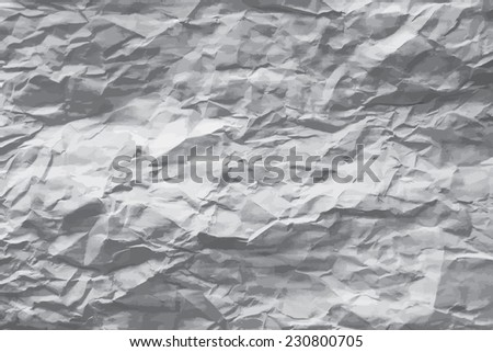 Greyscale wrinkled paper vector background