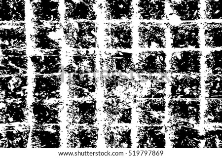 Grid distress overlay texture for your design. EPS10 vector.