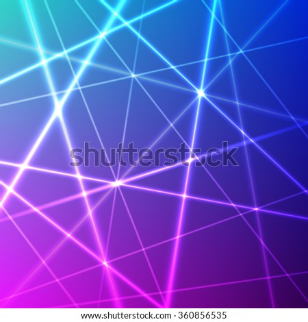Grid of colorful laser rays. Vector background - stock vector