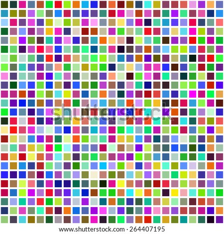Grid of Random Colored Squares. Seamless Background. EPS8 Vector - stock vector