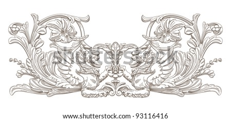 Griffin. Vector decorative element. - stock vector