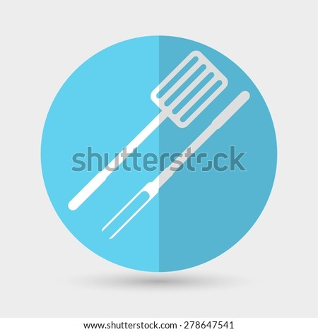 grill icon - stock vector