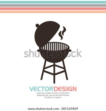 grill icon design  - stock vector