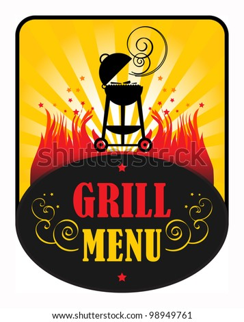 Grill Menu, Vector illustration - stock vector