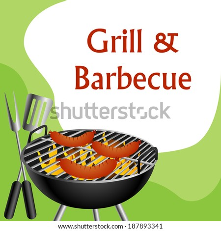 Grill party background - stock vector