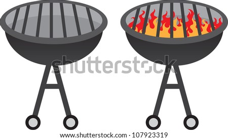 Grill with and without fire
