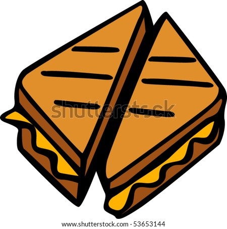 grilled cheese sandwich stock vector hd royalty free 53653144 rh shutterstock com soup and grilled cheese clipart grilled cheese clipart