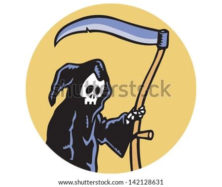 Grim Reaper - stock vector