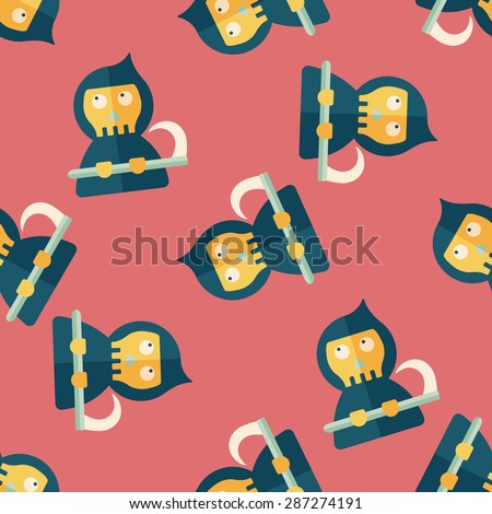 Grim Reaper flat icon,eps10 seamless pattern background - stock vector