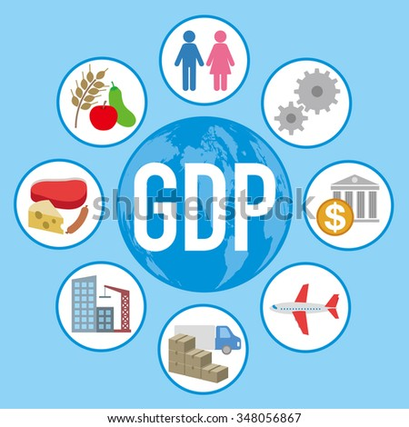 Gross Domestic Product  >> Gross Domestic Product Gdp Various Industry Stock Vector 348056867