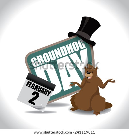 Groundhog Day icon EPS 10 vector stock illustration - stock vector