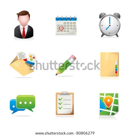Group Collaboration Icons - stock vector