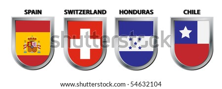 Group H (football championship south africa ) - stock vector