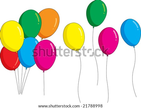 group of balloons illustration