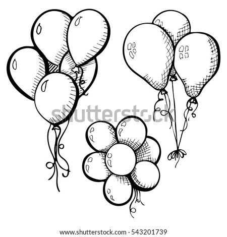 Balloon Sketch Stock Images Royalty Free Images Amp Vectors