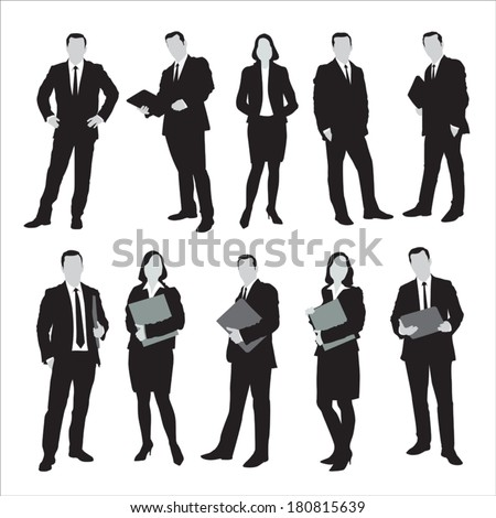 Group of business and office people. Vector illustration - stock vector