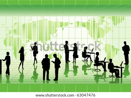 Group of business people. - stock vector