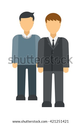 Group of business people. Business advisor vector and business advisor office meeting team. Office finance business advisor and business advisor worker consultant occupation advice. - stock vector