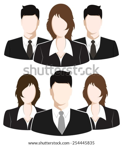 Group of Business People. Business Team concept - stock vector