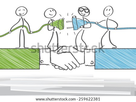 Group of business people working together - stock vector