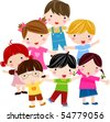 group of children - stock vector