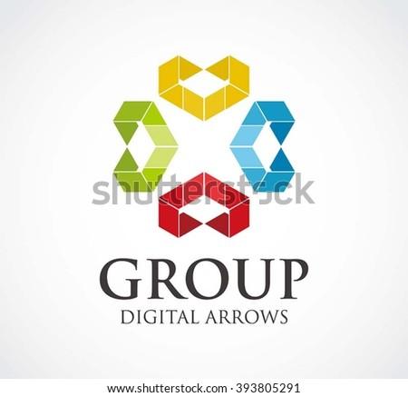 Creative Idea Business Vector Logo Template Stock Vector 535938190 ...
