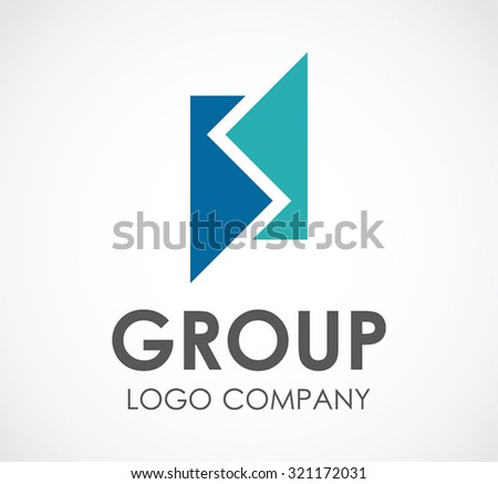 Group of connection square puzzle abstract vector and logo design or template business unity and support icon of company identity symbol concept - stock vector