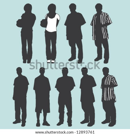 group of figures - stock vector