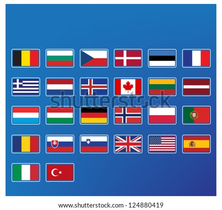 Group of flags - stock vector