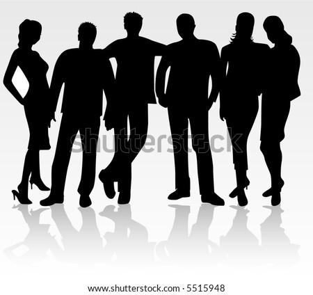 Group of friend , vector work - stock vector