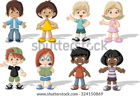 Cartoon Kids Stock Images, Royalty-Free Images & Vectors ...