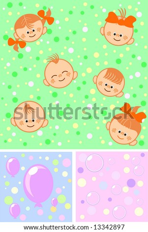 Group of happy children and balloons