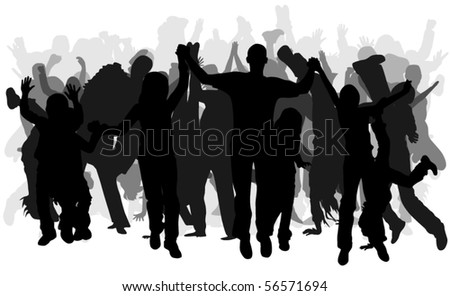 Group of happy people - stock vector