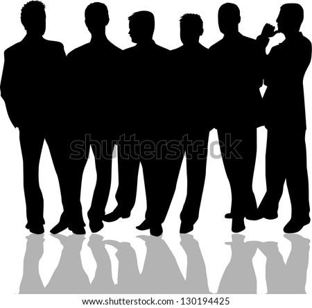group of men - stock vector