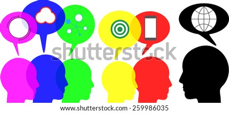 Group of people to communicate - stock vector