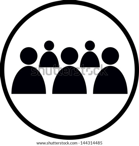 Group of people. Vector icon - stock vector