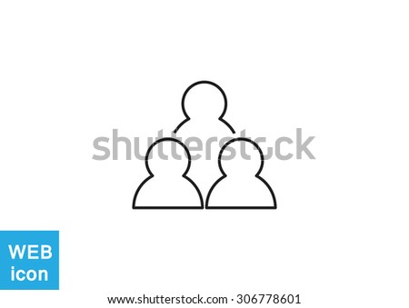 group of people web icon. vector design - stock vector