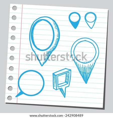 Group of pointers - stock vector