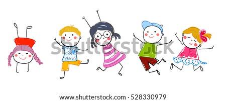 group of sketch kids - Sketch Images For Kids